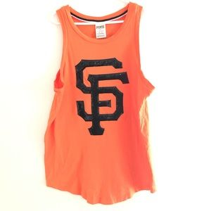 PINK Sequin San Francisco Giants Tank XS Stain